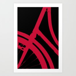 The Red Bike Art Print