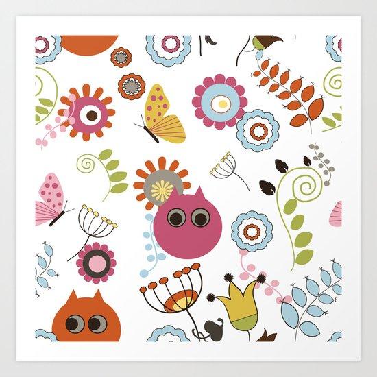 Owl in Pandora Art Print
