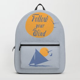 Follow your winds (sail boat) Backpack