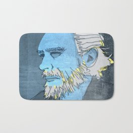 CHARLES BUKOWSKI, AMERICAN WRITER AND BARFLY Bath Mat