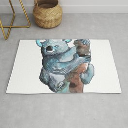 the koala awesome Rug