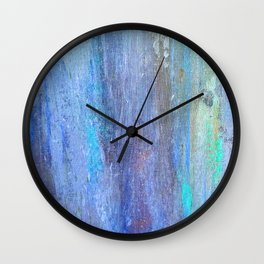 Edges of the Sky in Blues, Aquas and Green Wall Clock