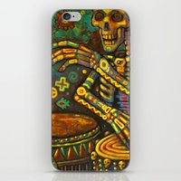 drums iPhone & iPod Skins featuring Death Drums by Sherdeb Akadan
