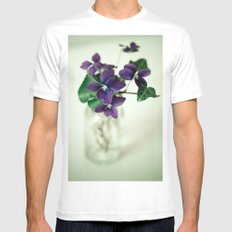 Sweet Violet White SMALL Mens Fitted Tee