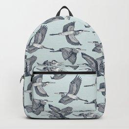 great blue herons sky blue Backpack