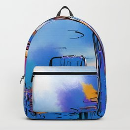 The Space Needle In Soft Abstract Backpack