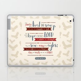 """Hope in the Lord"" Hand-Lettered Bible Verse Laptop & iPad Skin"