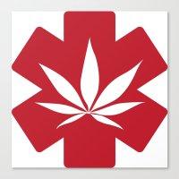 marijuana Canvas Prints featuring Medical Marijuana by WeedPornDaily