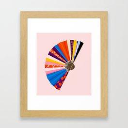 Hand Fan Framed Art Print