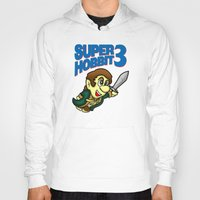 hobbit Hoodies featuring Super Hobbit by TyrannosaurusRy