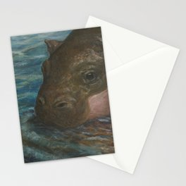 Pygmy Hippopotamus Stationery Cards