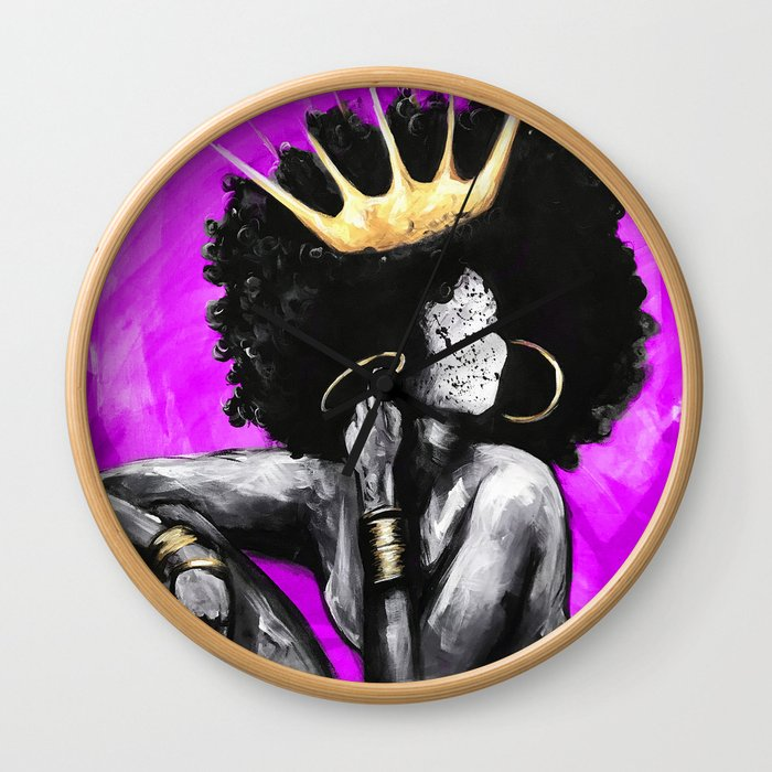 Naturally Queen VI PINK Wall Clock