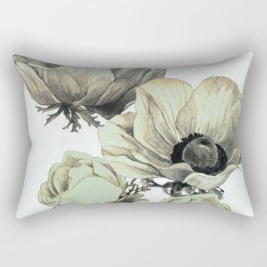 anemone flowers (white background) Rectangular Pillow