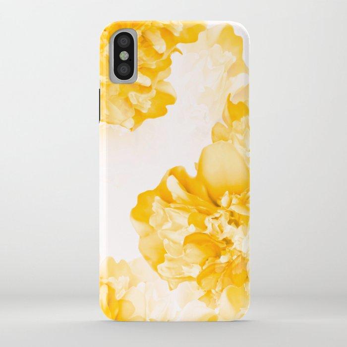 beautiful peony flowers white background #decor #society6 #buyart iphone case