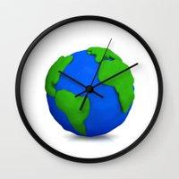 globe Wall Clocks featuring Globe by Tassos Kotsiras