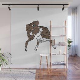 Dog Lover (Brown & White Australian Shepherd) Wall Mural