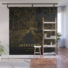 Jacksonville, United States - Gold Wall Mural
