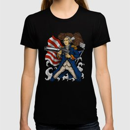 Patriotic Father Of Merica | Independence Day T-shirt