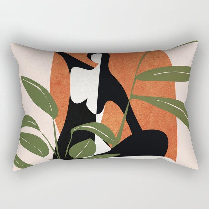 Abstract Female Figure 20 Rectangular Pillow