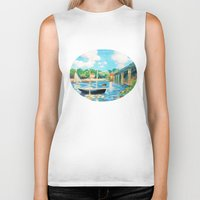 sailing Biker Tanks featuring Sailing by YeesArts