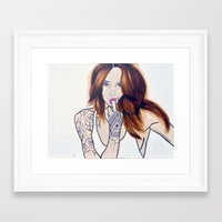 badwood Framed Art Prints featuring F*ck You, I'm a Lady by Badwood