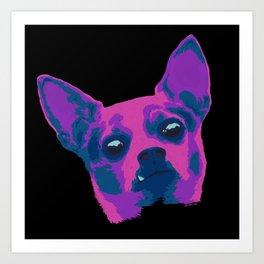 chihuahua - blk Art Print