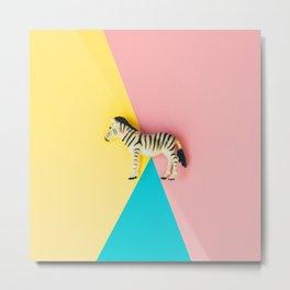 wild zebra Metal Print