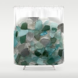 An Ocean of Mermaid Tears Shower Curtain
