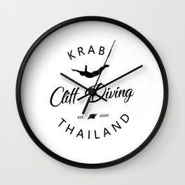 Cliff Jumping Shirt Thailand Cliff Diver TShirt Krabi Cliff Diving T Shirt Wall Clock