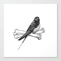 Bird and Bones Canvas Print