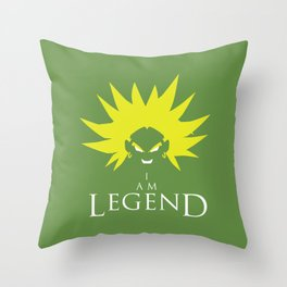 I am Broly Throw Pillow
