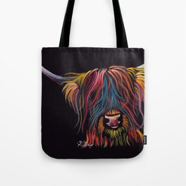 Scottish Hairy Highland Cow ' SWEET P ' by Shirley MacArthur Tote Bag