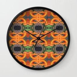Summer Orange Abstract Wall Clock