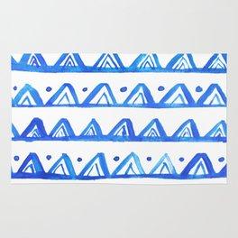 Geometric watercolor art Rug