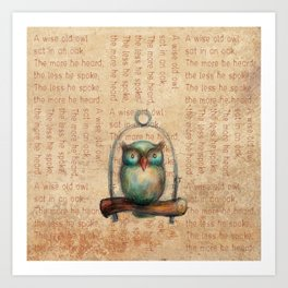 Wise Owl III Art Print