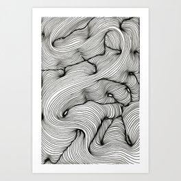 Undulating Lines Art Print