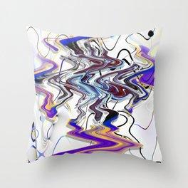 Liqud colors Throw Pillow