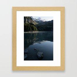 Oeschinen Lake Framed Art Print