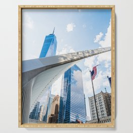 One World Trade Center and Oculus in New York Serving Tray