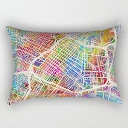Los Angeles City Street Map Rectangular Pillow