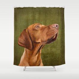 Magyar Vizsla portrait Shower Curtain
