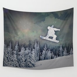 The Snowboarder Wall Tapestry
