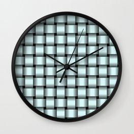 Light Cyan Weave Wall Clock