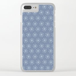 Very Simple Snow Flake - Light blue illustration Clear iPhone Case