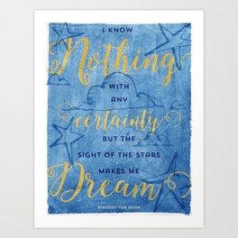 Van Gogh Quote Art Print