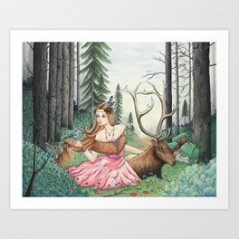 The Queen of the forest Art Print