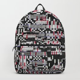 Comfortable Ambiguity (P/D3 Glitch Collage Studies) Backpack