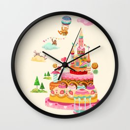 Ice Cream Castles In The Air Wall Clock