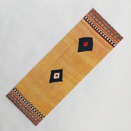 Qashqa'i Fars Southwest Persian Kilim Print Yoga Mat