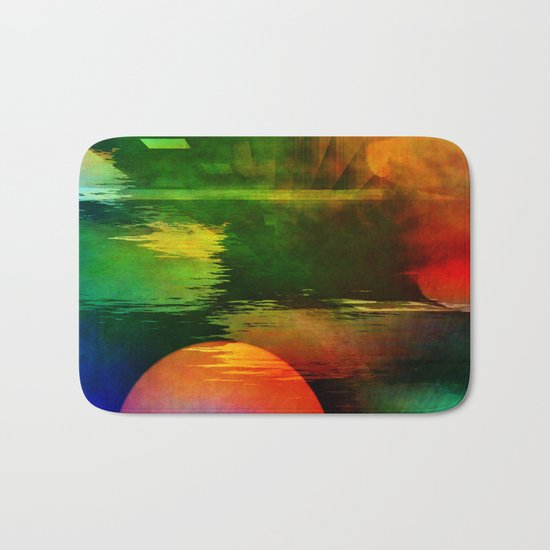 Multicolored abstract 2016 / 003 Bath Mat